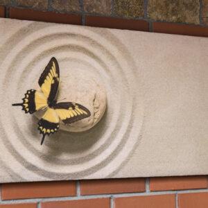 """Картина из мраморного песка """"Бабочка на песке"""""""