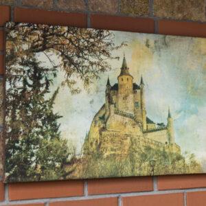 """Картина из мраморного песка """"Замок на горе"""""""