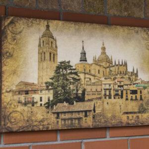 """Картина из мраморного песка """"Старинный замок"""""""
