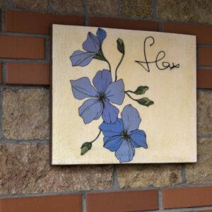 """Картина на гибком камне """"Синие цветы"""""""