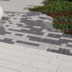 Тротуарная плитка Via Trio Monocolor