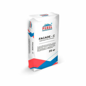 Серая цементная шпатлевка FACADE – C