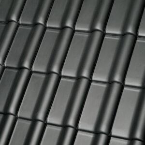 Керамическая черепица рядовая MONZAplus серый шиферный
