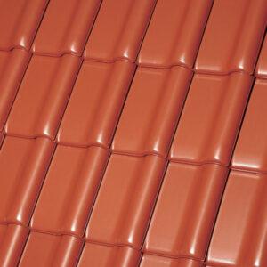 Керамическая черепица рядовая Roben MONZAplus медный красно-коричневый
